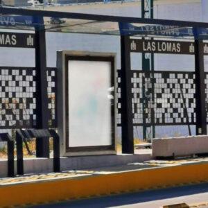 Panel de aluminio aplicado en paradas de autobús, Grupo Cove distribuidor autorizado